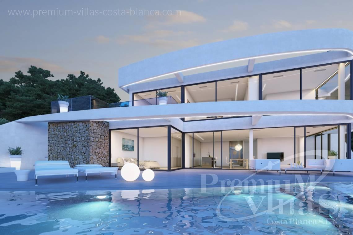 Moderne hus villa costa blanca c1852 ultramoderne villa med flott havutsikt i mascarat altea